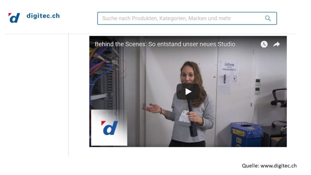 eCommerce: Das neue Digitec Video-Studio